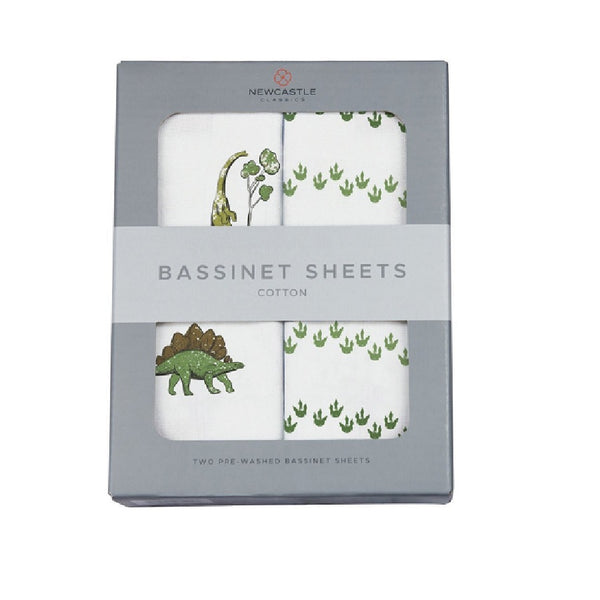 Dino Days and Dino Feet Bassinet Sheets - Roll Up Baby