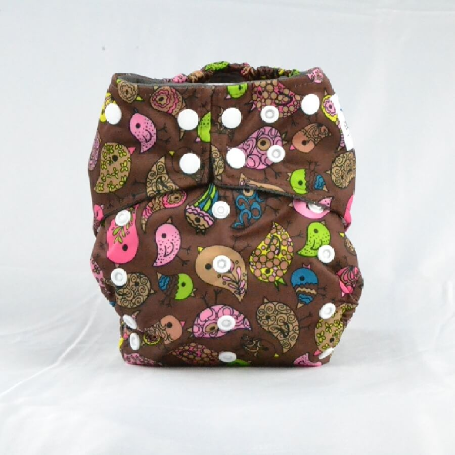 Earthlie Cloth Diaper - Birds - Roll Up Baby