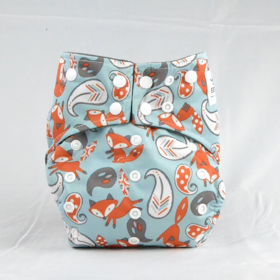 Earthlie Cloth Diaper - Foxes - Roll Up Baby