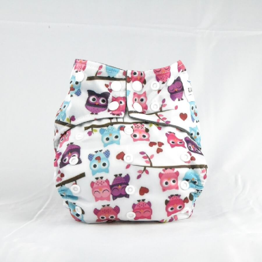 Earthlie Cloth Diaper - Owls - Roll Up Baby