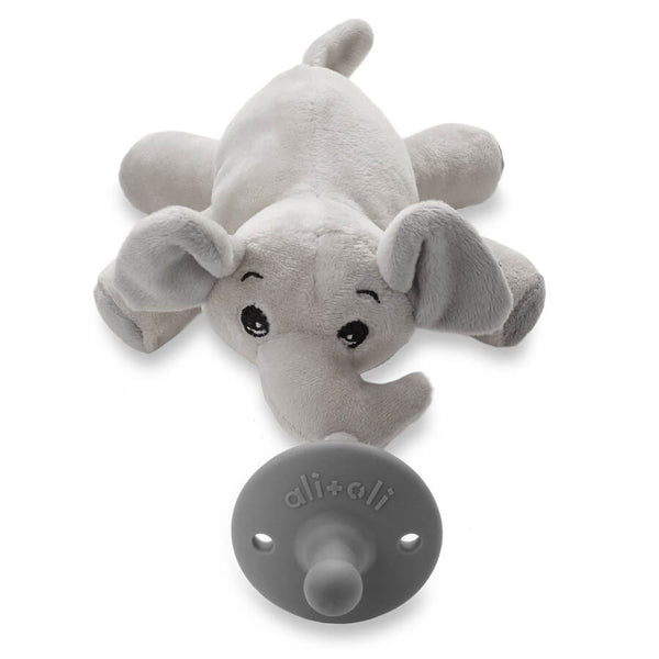 Elephant Pacifier Holder - w/out Pacifier - Roll Up Baby