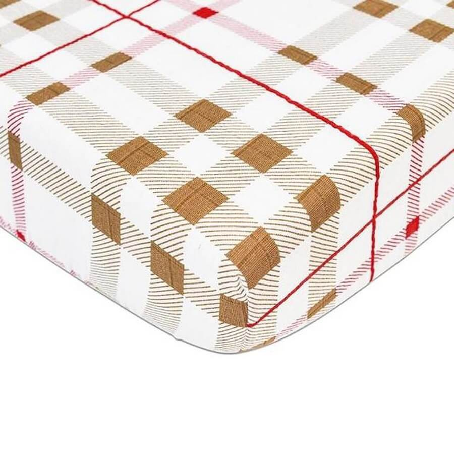 Fitted Crib Sheet - Plaid - Roll Up Baby