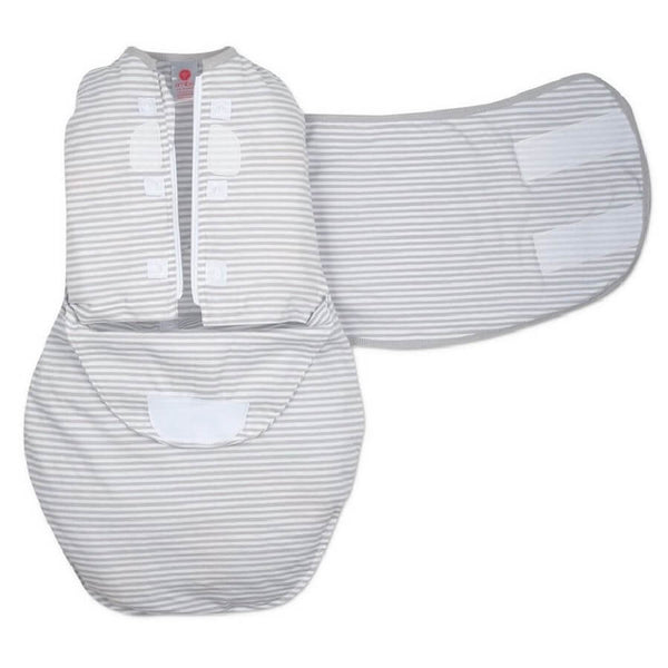 Hat & Starter Swaddle Original Bundle - Gray Stripe - Roll Up Baby