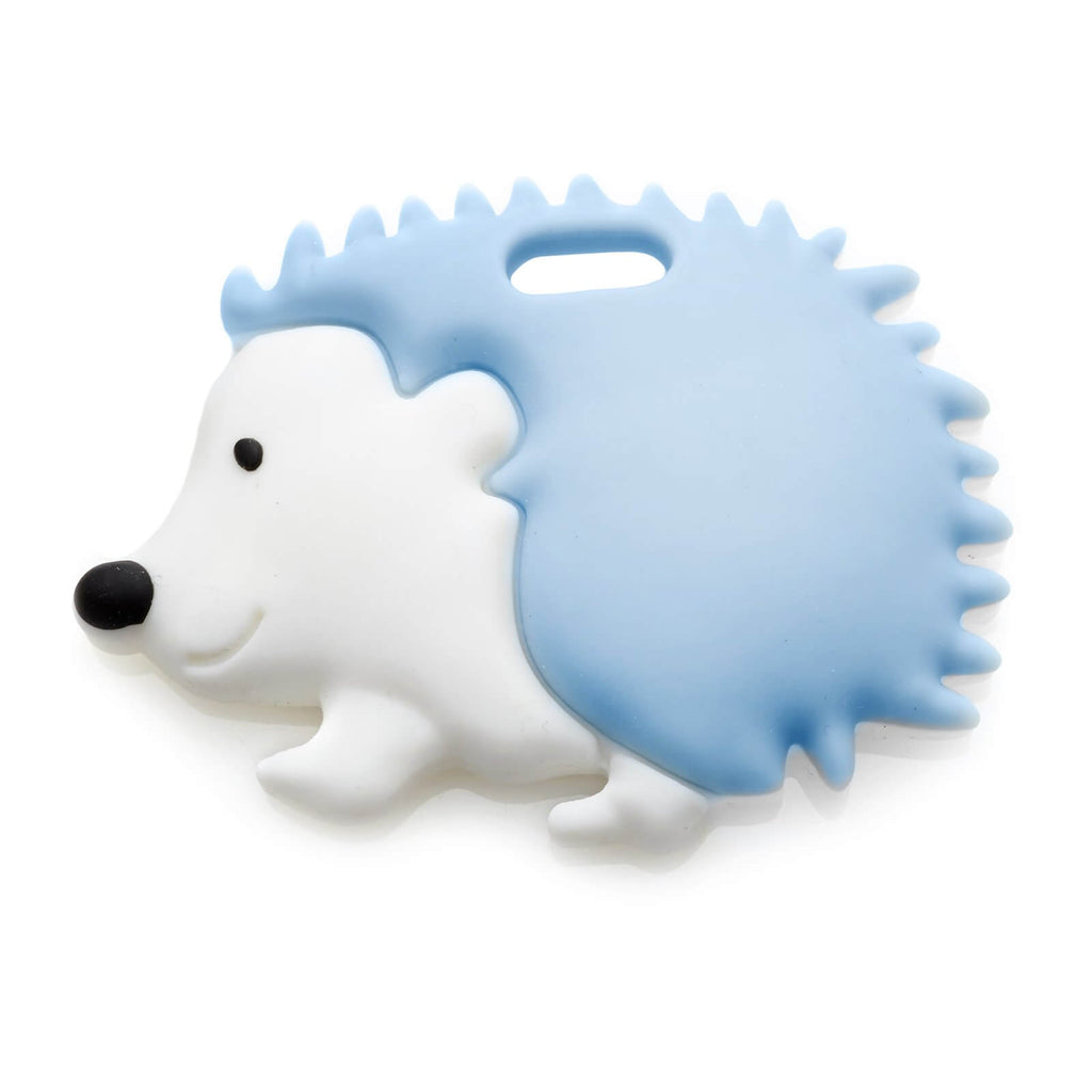 Hedgehog Teether - Soft Blue - Roll Up Baby