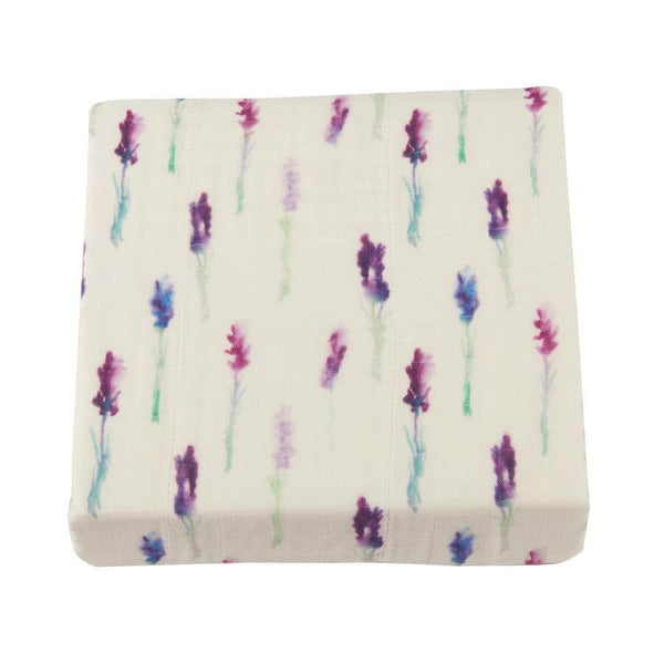 Bamboo Blanket Girl - Lavender and White - Roll Up Baby