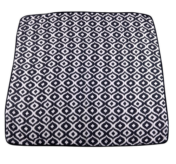 Muslin Blanket - Moroccan Blue And Traveler Dot - Roll Up Baby
