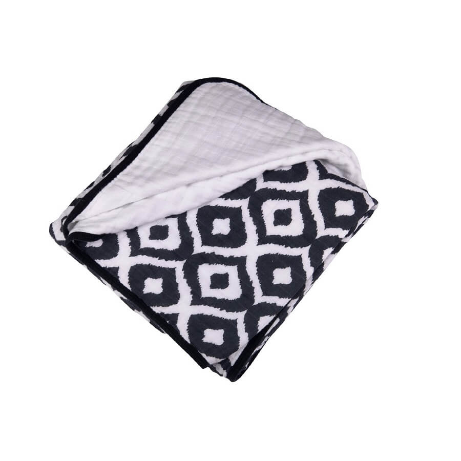 Muslin Blanket - Moroccan Blue - Roll Up Baby