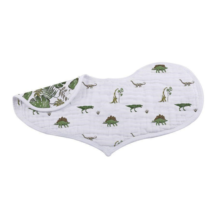 Muslin Heart Bibs Set of 2 - Dino Days - Roll Up Baby