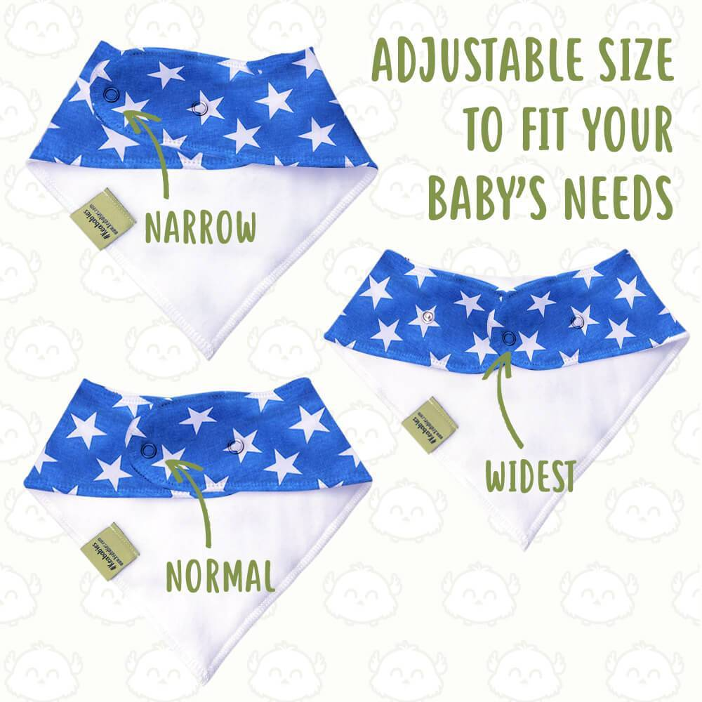 Organic Baby Bandana Bibs (US of A) - Roll Up Baby