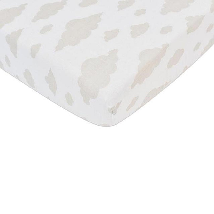 Organic Crib Sheet - Cloud - Roll Up Baby