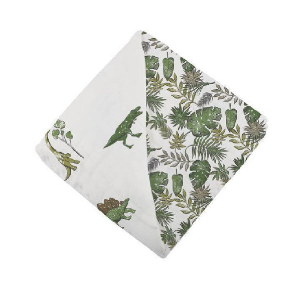 Organic Muslin Blanket - Dino Days and Jurassic Forest - Roll Up Baby
