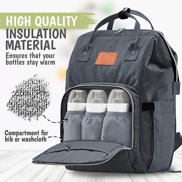 Original Diaper Backpack - Mystic Grey - Roll Up Baby