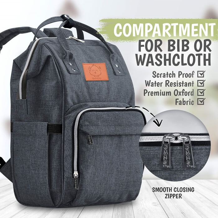 Original Diaper Backpack - Mystic Gray - Roll Up Baby