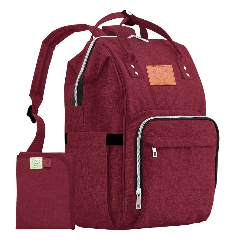 Original Diaper Backpack - Wine Red - Roll Up Baby