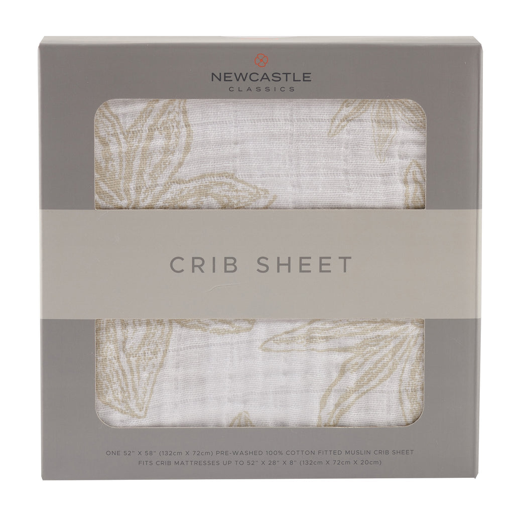 Muslin Crib Sheet - Star Anise - Roll Up Baby