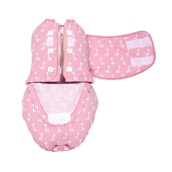 Starter Swaddle Original - Pink Giraffes - Roll Up Baby