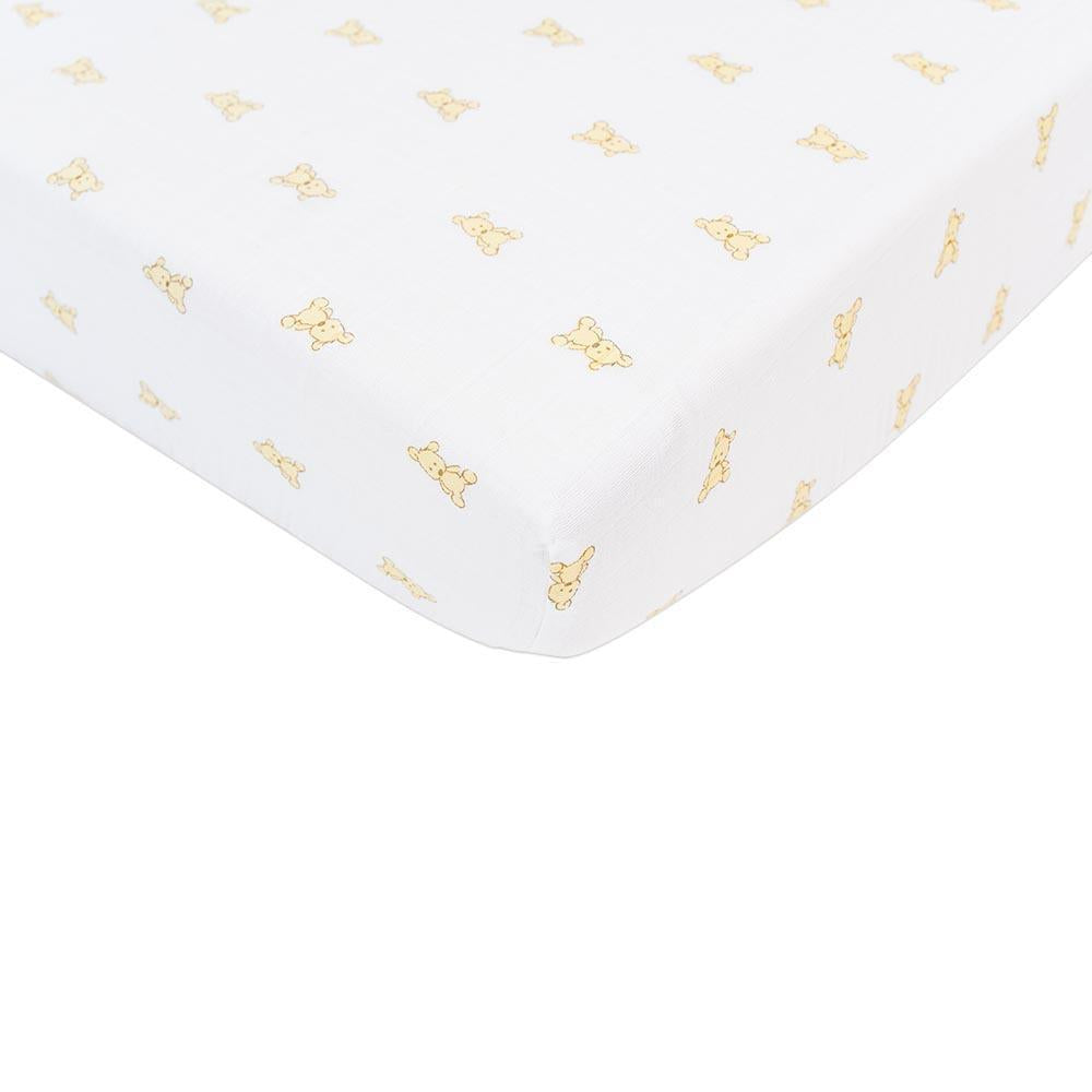 Baby Crib Bedding Sheet - Teddy Bear - Roll Up Baby