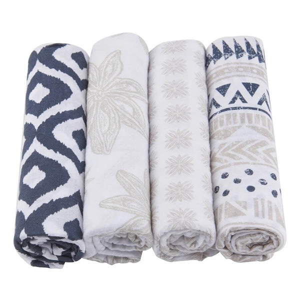 Muslin Swaddle 4-Pack - World Wanderer - Roll Up Baby