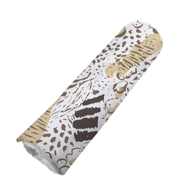 Baby Bamboo Swaddle Blanket - Animal Print - Roll Up Baby