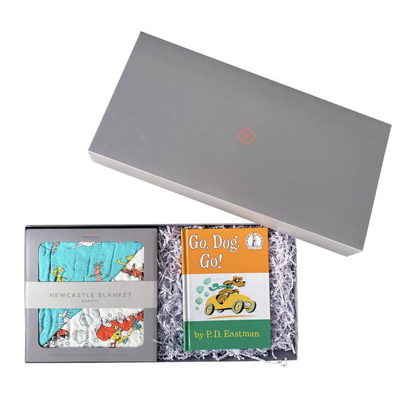 Baby Blanket Gift Set - Go, Dog. Go! - Roll Up Baby
