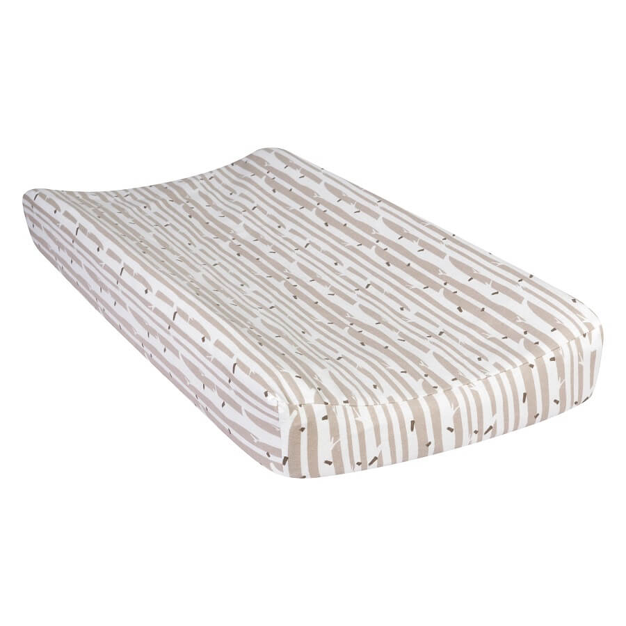 Baby Changing Pad Cover - Birch Deluxe Flannel  - Roll Up Baby