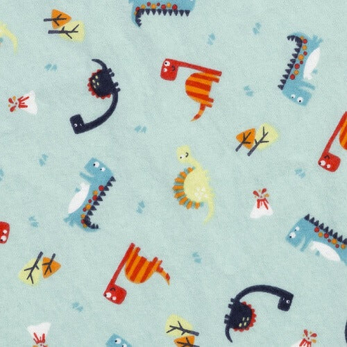 Baby Changing Pad Cover - Dinosaurs Deluxe Flannel - Roll Up Baby