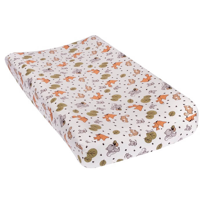 Baby Changing Pad Cover - Friendly Forest Flannel  - Roll Up Baby