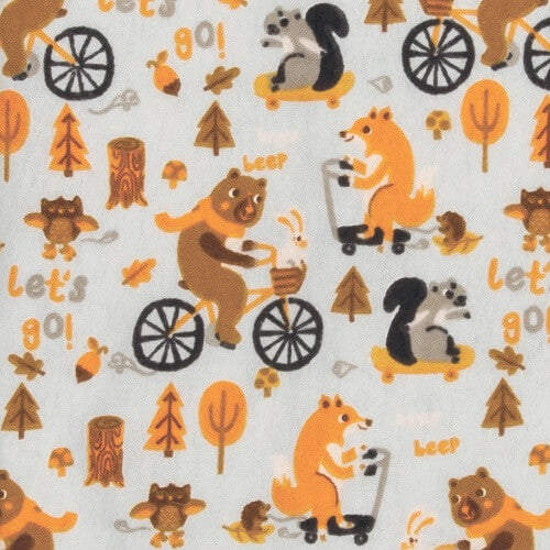 Baby Changing Pad Cover - Let's Go Flannel - Roll Up Baby