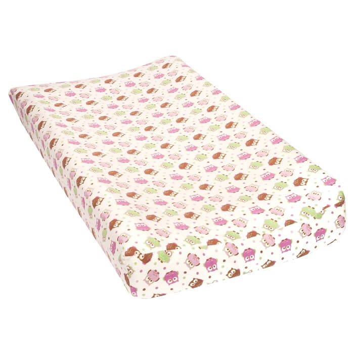 Baby Changing Pad Cover - Owls Flannel  - Roll Up Baby