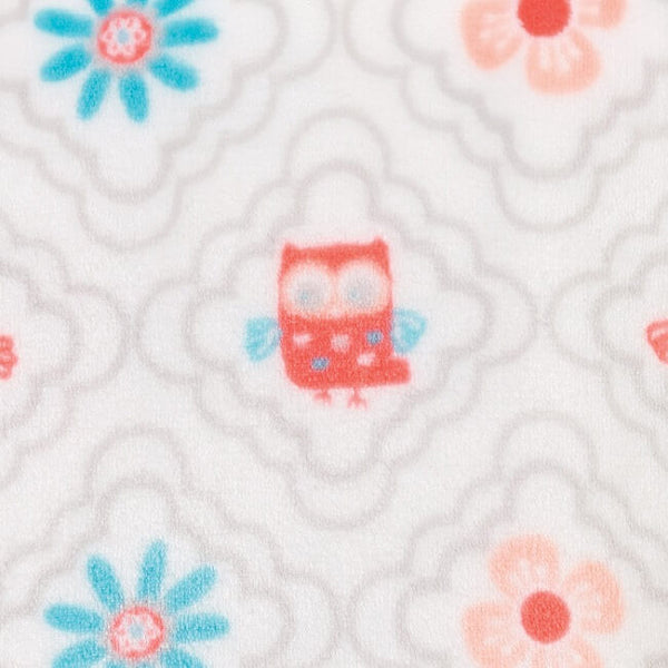 Baby Changing Pad Cover - Quatrefoil Owls Plush - Roll Up Baby