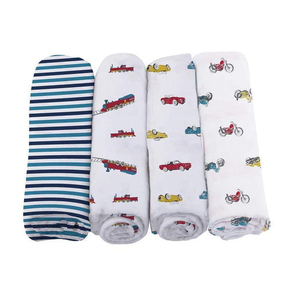 Baby Swaddle 4 Pack - Ultimate Road Trip - Roll Up Baby
