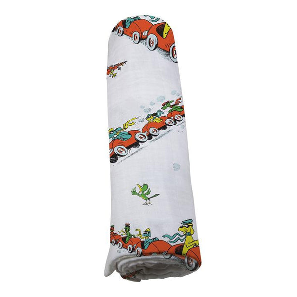 Baby Swaddle Blanket Go, Dog. Go! - Roll Up Baby