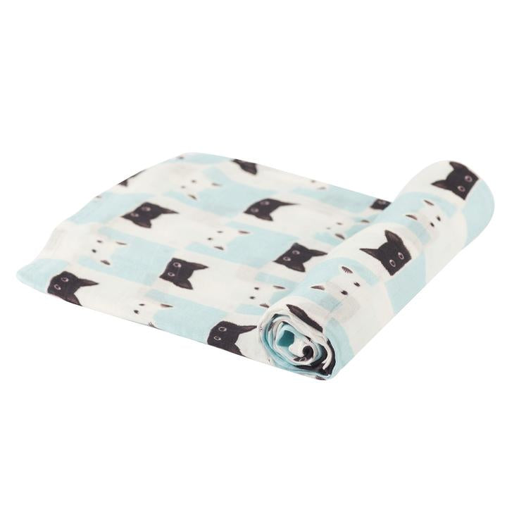 Baby Swaddle Blanket Peek-A-Boo Cats - Roll Up Baby