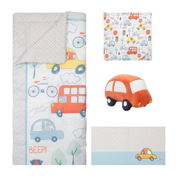 Bedding Set 4 Piece - Beep Beep by Sammy and Lou - Roll Up Baby