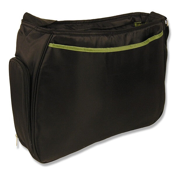 Black and Avocado Green Ultimate Hobo Style Diaper Bag - Roll Up Baby