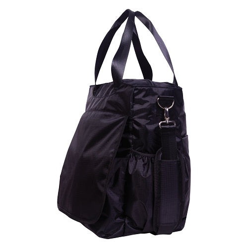Black Tote Diaper Bag - Roll Up Baby