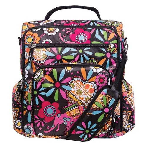 Bohemian Floral Convertible Backpack Diaper Bag - Roll Up Baby