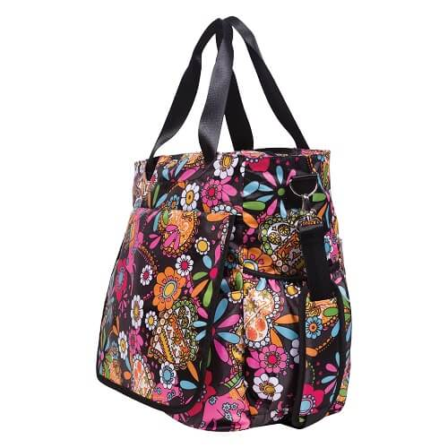 Bohemian Floral Tote Diaper Bag - Roll Up Baby