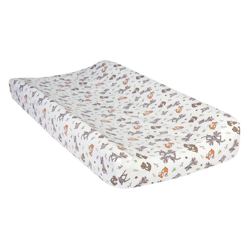 Changing Pad Cover - Forest Nap Deluxe Flannel - Roll Up Baby