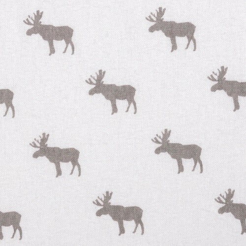 Changing Pad Cover - Moose Silhouette Deluxe Flannel - Roll Up Baby