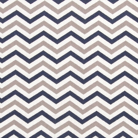Changing Pad Cover - Navy & Gray Chevron Flannel - Roll Up Baby
