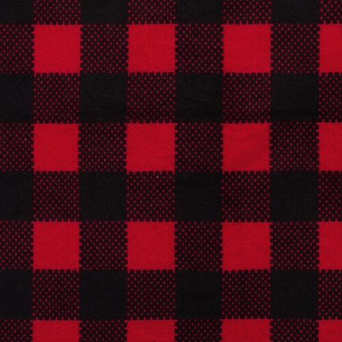 Changing Pad Cover - Red & Black Buffalo Check Deluxe Flannel - Roll Up Baby