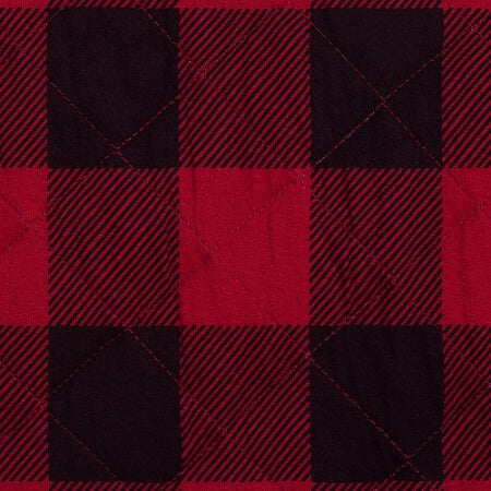 Changing Pad Cover - Red & Black Buffalo Check Quilted Jersey - Roll Up Baby