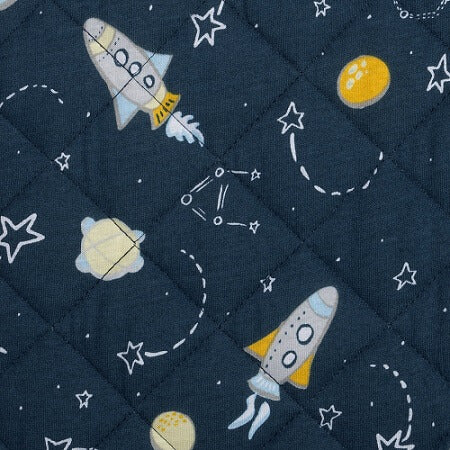 Baby Changing Pad Cover - Rockets Quilted Jersey - Roll Up Baby