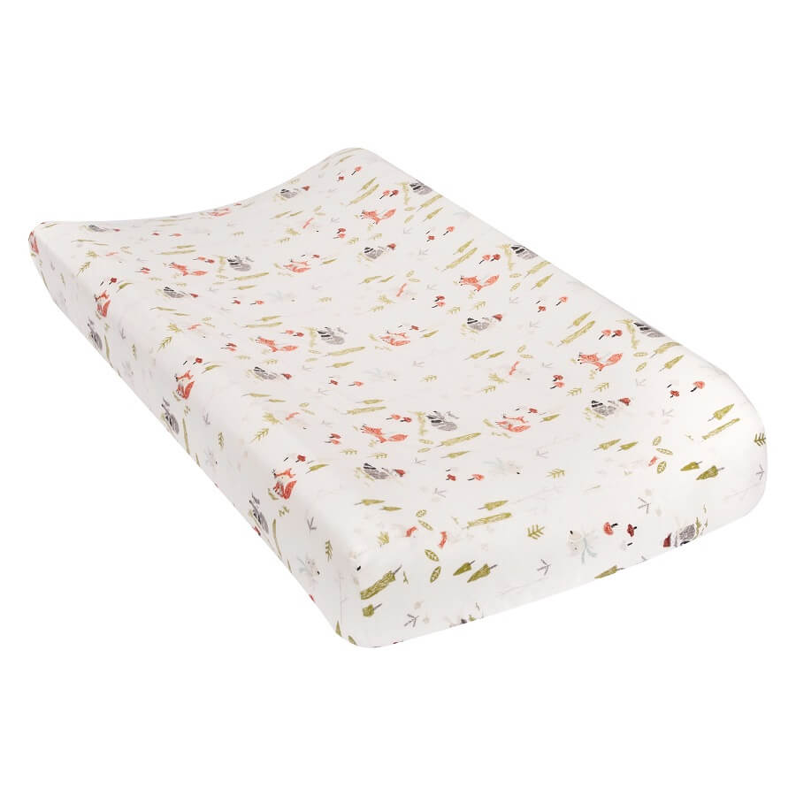 Changing Pad Cover - Winter Woods Flannel  - Roll Up Baby