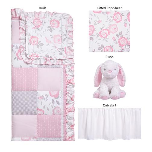 Crib Bedding 4 Piece - Emma by Sammy and Lou - Roll Up Baby