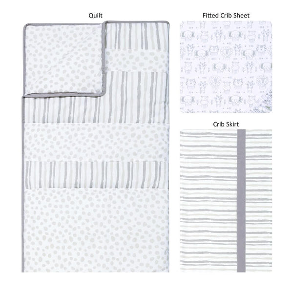 Crib Bedding Set 3 Piece - Sydney - Roll Up Baby