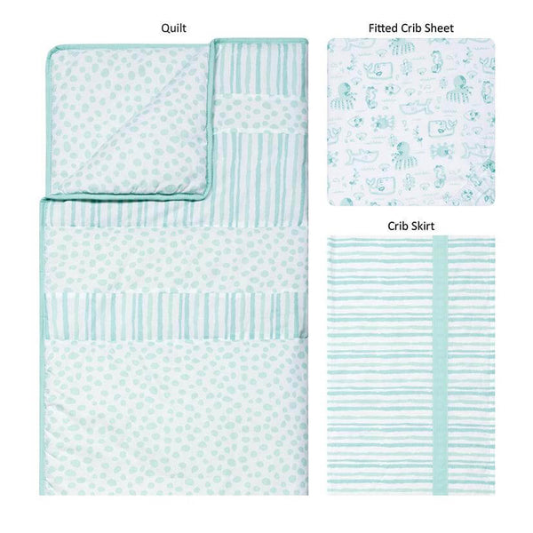 Crib Bedding Set 3 Piece - Taylor - Roll Up Baby
