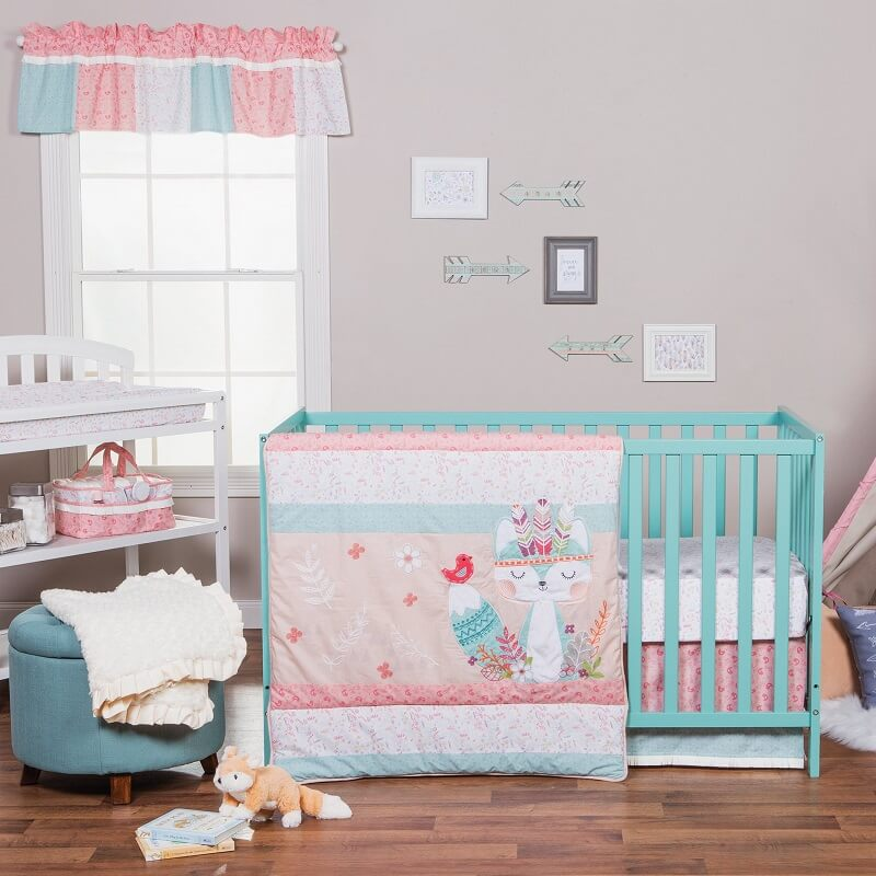 Crib Bedding Set 3 Piece - Wild Forever  - Roll Up Baby