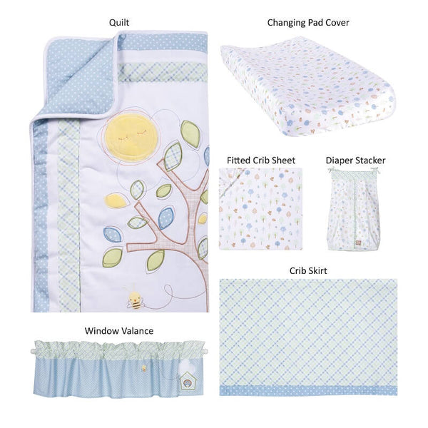 Crib Bedding Set 6 Piece - Forest Tales - Roll Up Baby
